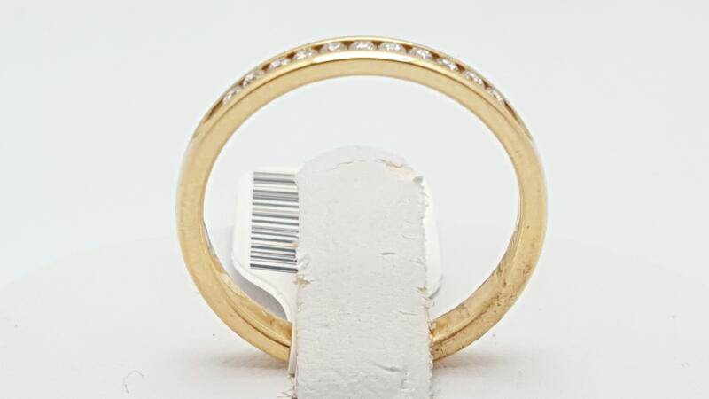 Lady's Gold-Diamond Anniversary Ring 11 Diamonds 0.15 Carat T.W. 14K Yellow Gold