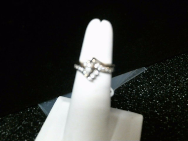Lady's Diamond Wedding Set 17 Diamonds .42 Carat T.W. 14K White Gold 4.6g