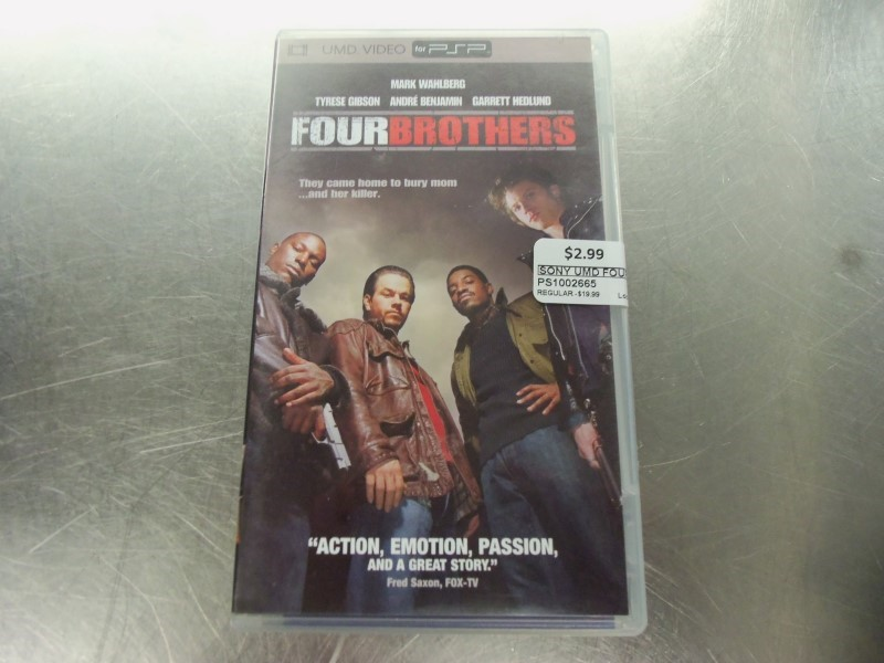 SONY UMD FOUR BROTHERS VIDEO W CASE