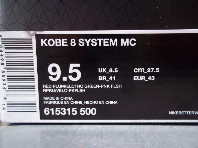 NIKE KOBE 8 SYSTEM MC SIZE 9.5 MENS SHOES