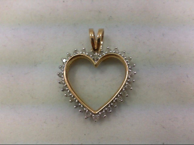 Gold-Multi-Diamond Pendant 30 Diamonds 0.3 Carat T.W. 10K Yellow Gold 2.1g