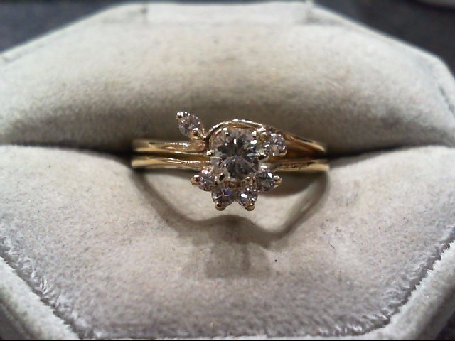 Lady's Diamond Wedding Set 7 Diamonds .51 Carat T.W. 14K Yellow Gold 4.2g