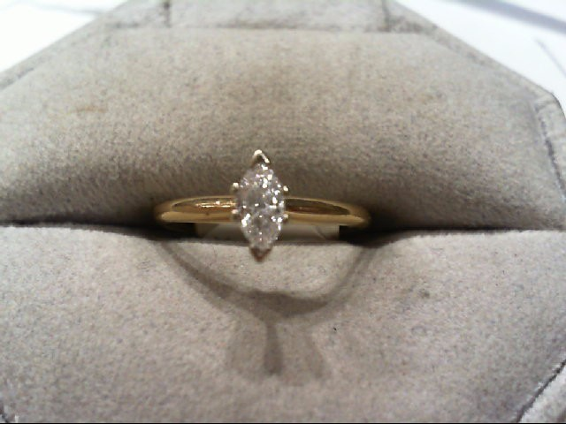 Lady's Diamond Engagement Ring .29 CT. 14K Yellow Gold 1.6g