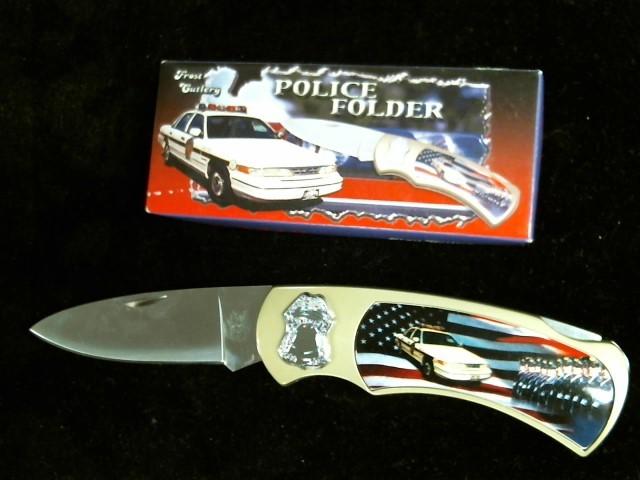 FROST CUTLERY Pocket Knife POLICE DEFENDER