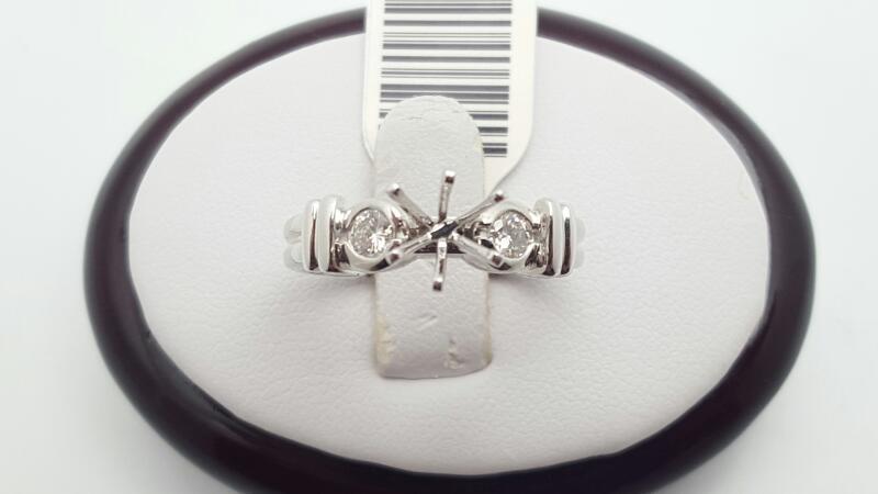 Lady's Platinum-Diamond Wedding Band 2 Diamonds .26 Carat T.W. 950 Platinum 7.6g
