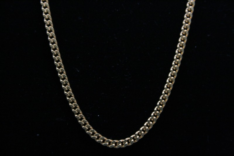 "16.5"" CURN LINK 18K YELLOW GOLD CHAIN  25.1g"
