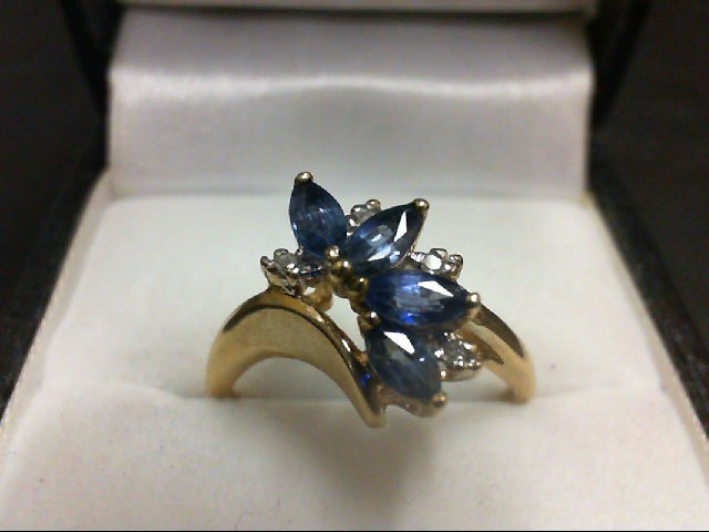 Sapphire Lady's Stone Ring 14K Yellow Gold 2.7g