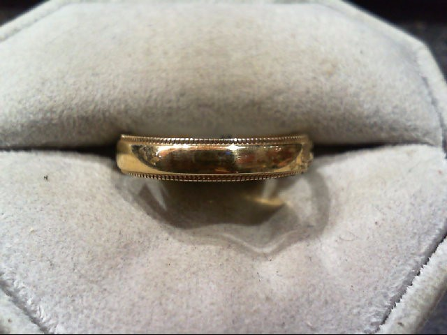 Lady's Gold Wedding Band 14K Yellow Gold 2.6g Size:8