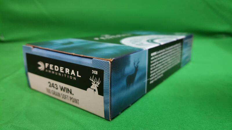 FEDERAL AMMUNITION Ammunition 243 WIN 100GR