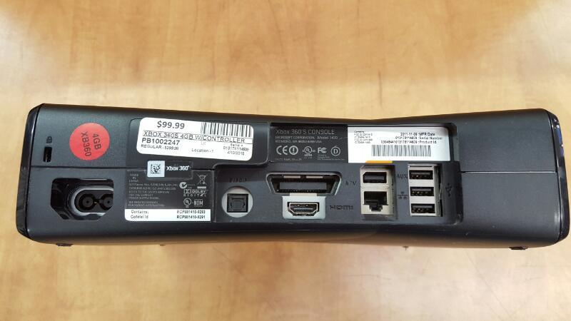 MICROSOFT XBOX 360S - 4GB - 1439 - CONSOLE