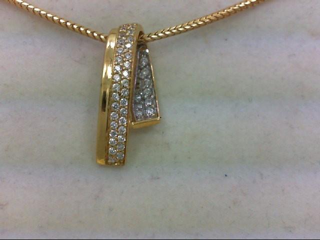Gold-Multi-Diamond Pendant 45 Diamonds .45 Carat T.W. 18K Yellow Gold 10.8g