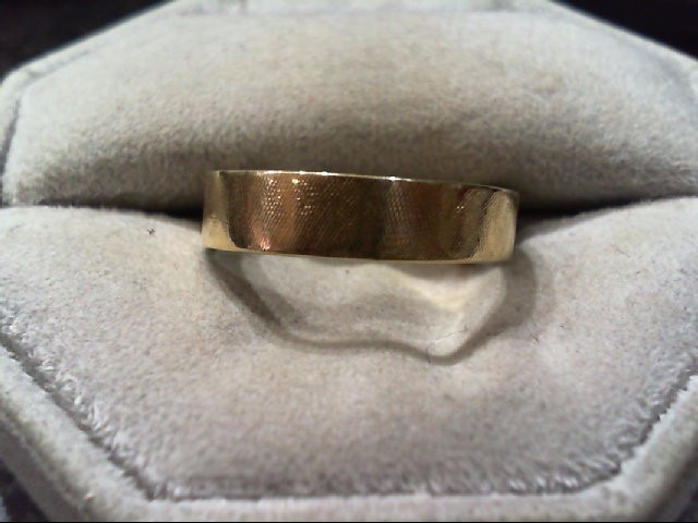 Gent's Gold Wedding Band 14K Yellow Gold 3.6g Size:8.3