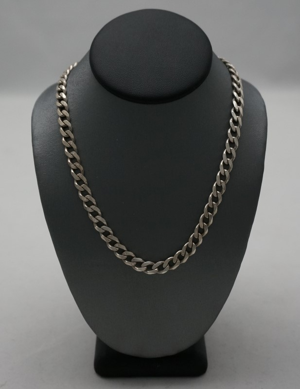 """30"""" Silver Curb Chain 925 Silver 26.1dwt"""