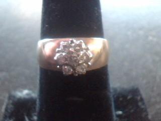 Lady's Diamond Cluster Ring 7 Diamonds .70 Carat T.W. 10K Yellow Gold 2.8dwt