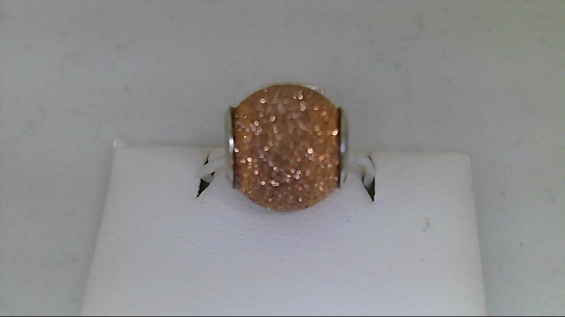 new sterling silver peach reflection bead