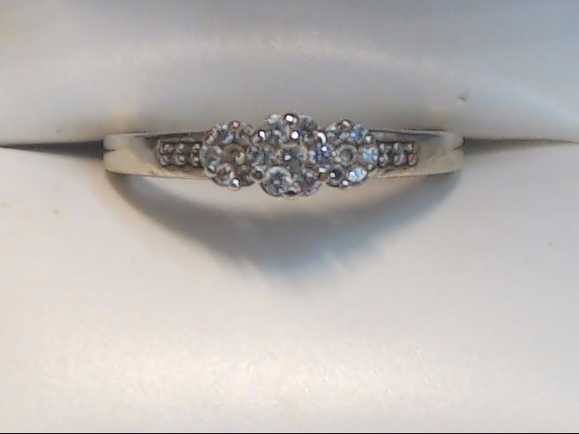 Lady's Diamond Cluster Ring 20 Diamonds .20 Carat T.W. 10K White Gold 2g Size:7