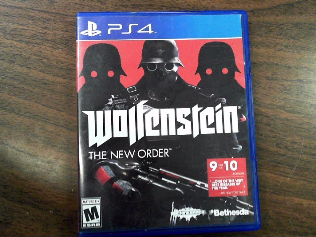 SONY Sony PlayStation 4 Game WOLFENSTEIN - PS4