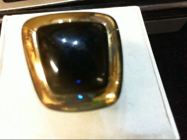 Agate Gent's Stone Ring 18K 2 Tone Gold 13.6g