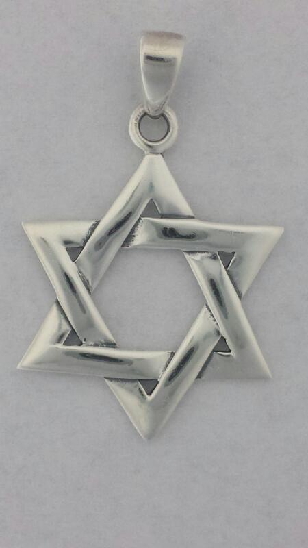 Beautiful Simple Star of David Pendant in 925 Sterling Silver