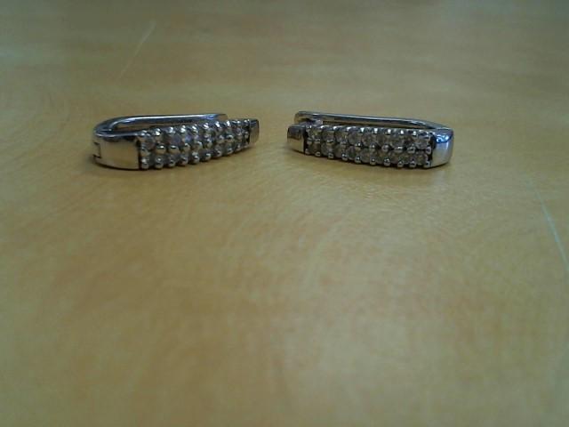 Gold Earrings 14K White Gold 4.5g