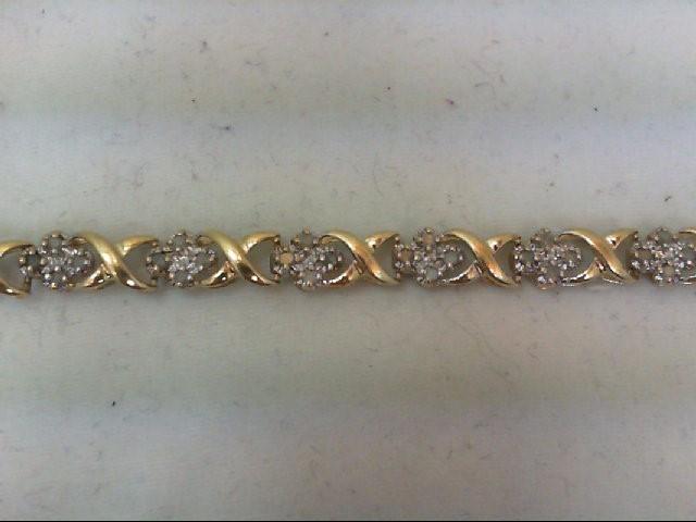 Gold Bracelet 10K 2 Tone Gold 5.6g