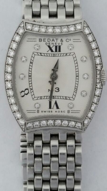 Bedat & Co. Women's No.3 Stainless Steel & Diamond Bezel Watch