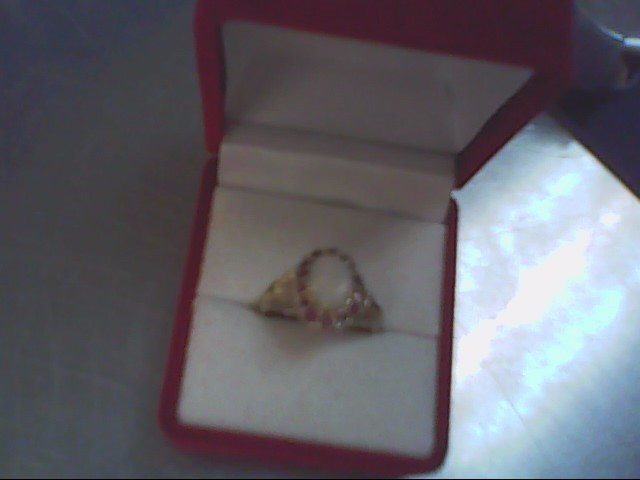 Ruby Lady's Stone Ring 14K Yellow Gold 3g Size:7.3