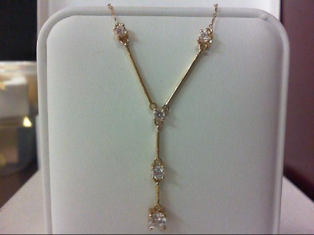 Gold-Multi-Diamond Pendant 5 Diamonds 0.95 Carat T.W. 10K Yellow Gold 2.9g