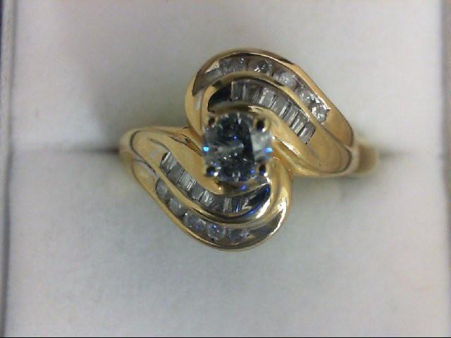 WED SET 25 Diamonds .55 Carat T.W. 14K Yellow Gold 4.8g