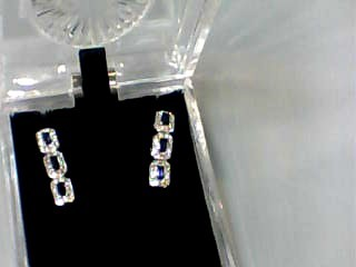 Sapphire Gold-Diamond & Stone Earrings 84 Diamonds 1.68 Carat T.W.