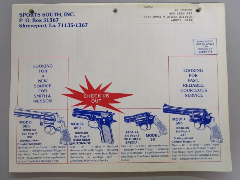 SPORTS SOUTH CATALOG, INC., 1988 CATALOG, FIREARMS, JANUARY - FEBRUARY - MARCH,