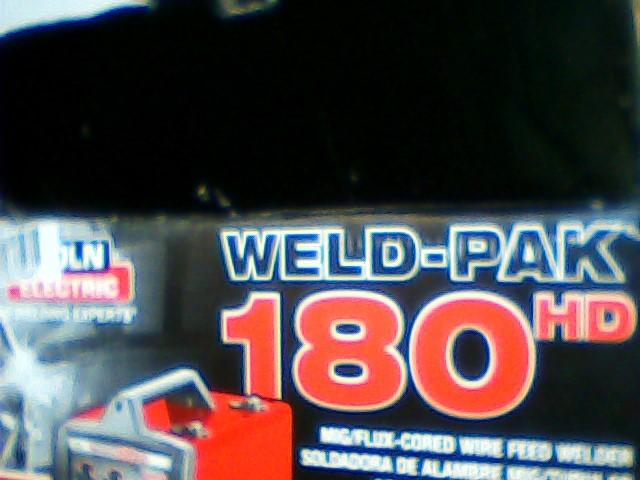 LINCOLN ELECTRIC Wire Feed Welder WELD-PAK 180HD