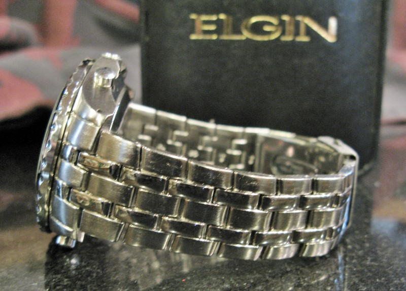 """ELGIN MZB SR626SW CRONOGRAPH QUARTZ, 9"""" Band"""