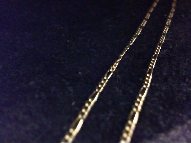 "20"" Gold Figaro Chain 14K Yellow Gold 3.5g"