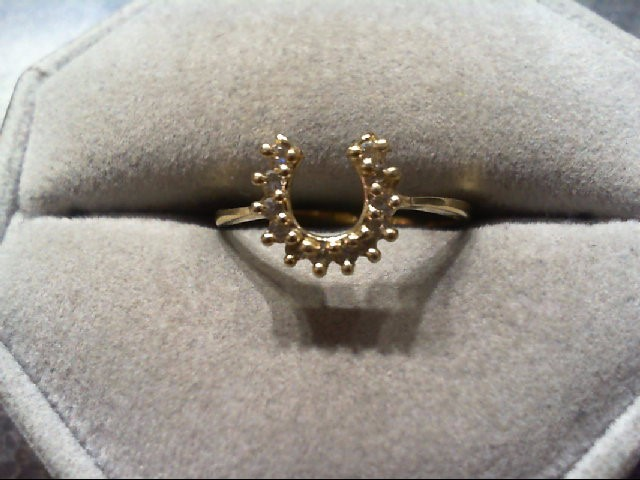 Lady's Diamond Fashion Ring 12 Diamonds .12 Carat T.W. 14K Yellow Gold 1.6g