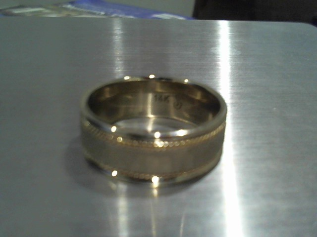 Gent's Gold Ring 14K 2 Tone Gold 7.8g