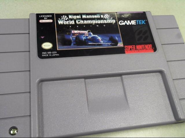 NINTENDO Nintendo NES Game NIGEL MANSELL'S WORLD CHAMPIONSHIP