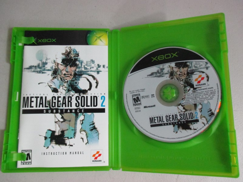 MICROSOFT Microsoft XBOX Game METAL GEAR SOLID 2