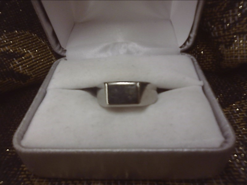 STAINLESS STEEL RING W/ FLAT TOP SIZE: 8