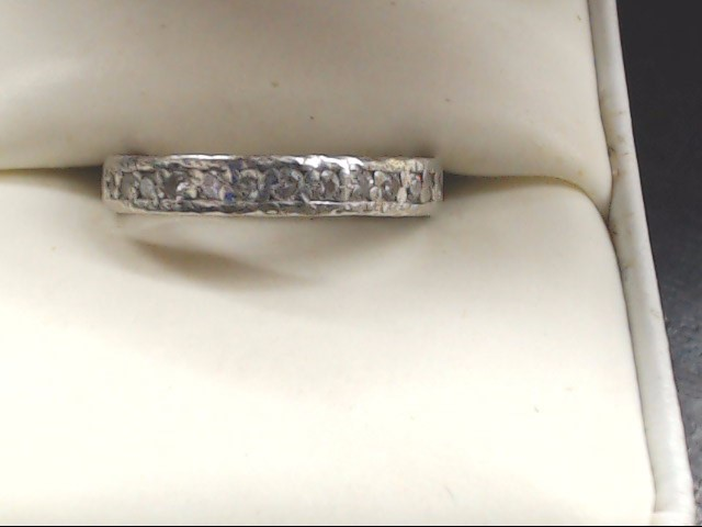 Lady's Silver Wedding Band 925 Silver 6.4g Size:5