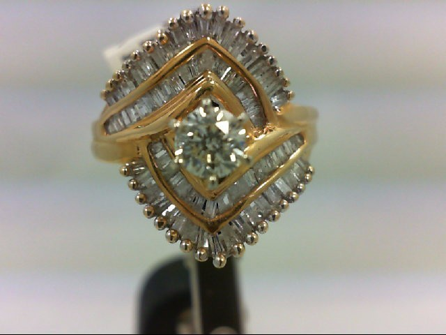 Lady's Diamond Wedding Band 76 Diamonds 1.5 Carat T.W. 14K Yellow Gold 6.64g