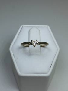 Lady's Diamond Solitaire Ring .20 CT. 14K White Gold 2.02g