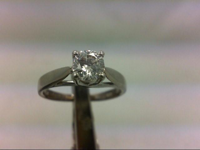 Lady's Platinum-Diamond Solitaire .50 CT. 999 Platinum 4.27g