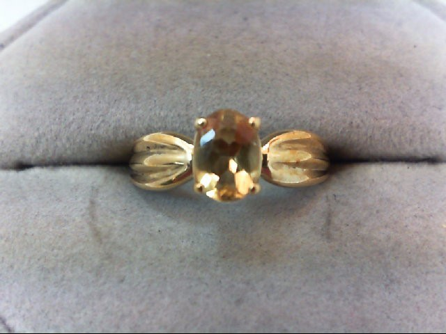 Nice Lady's Yellow Gold Citrine Ring 10K Yellow Gold 1.6g