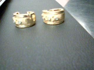 Gold-Diamond Earrings 8 Diamonds .16 Carat T.W. 14K Yellow Gold 9.2g