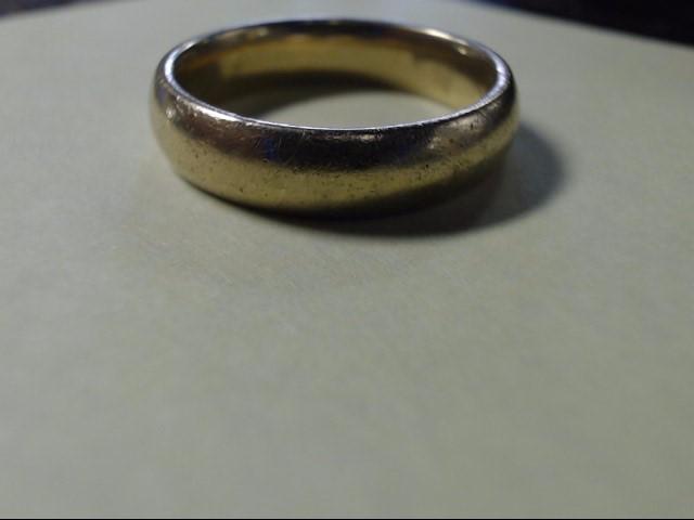 Lady's Gold Wedding Band 14K Yellow Gold 8.1g Size:10.5