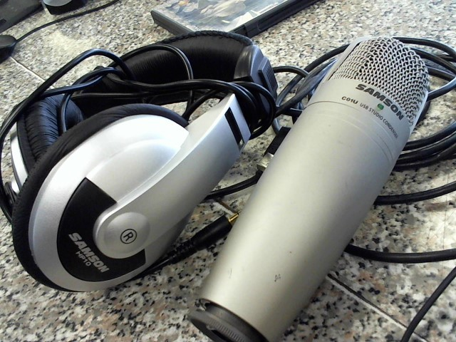SAMSON C01U MICROPHONE MIC & HEADPHONE HP10 SET