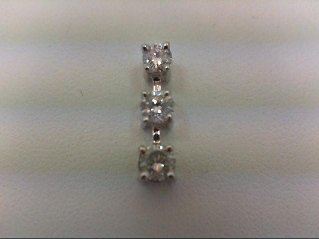 Gold-Multi-Diamond Pendant 3 Diamonds 0.46 Carat T.W. 14K White Gold 1g