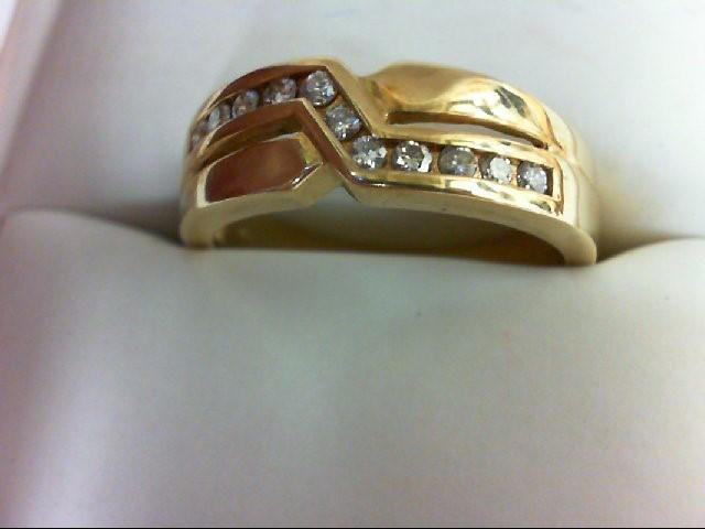 Lady's Diamond Wedding Band 11 Diamonds 0.55 Carat T.W. 14K Yellow Gold 6.2g