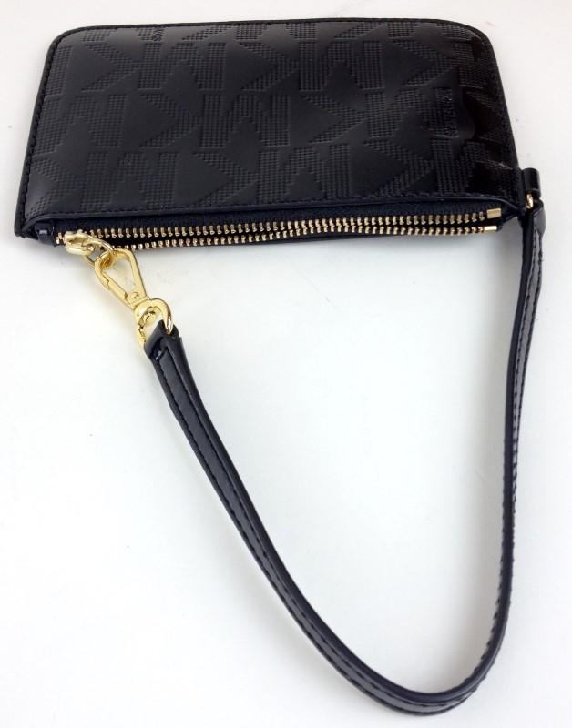 MICHAEL KORS Fashion Accessory BLACK PATENT LEATHER WRISTLET